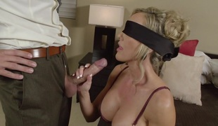 blonde milf store pupper blowjob lingerie