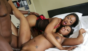 Irresistible doxy Monique Symone banged in black threesome