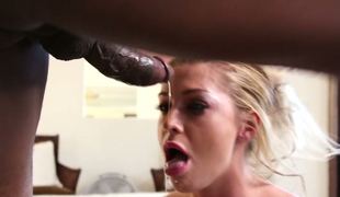 Merely tattooed blonde Kleio Valentine can cope with this monster pecker