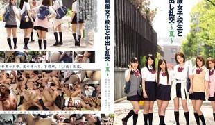 Fabulous Japanese chick Ryoko Asakura, Kanako Sakuragawa, Aya Kikuchi, Hinata Tachibana in Best public, college JAV movie